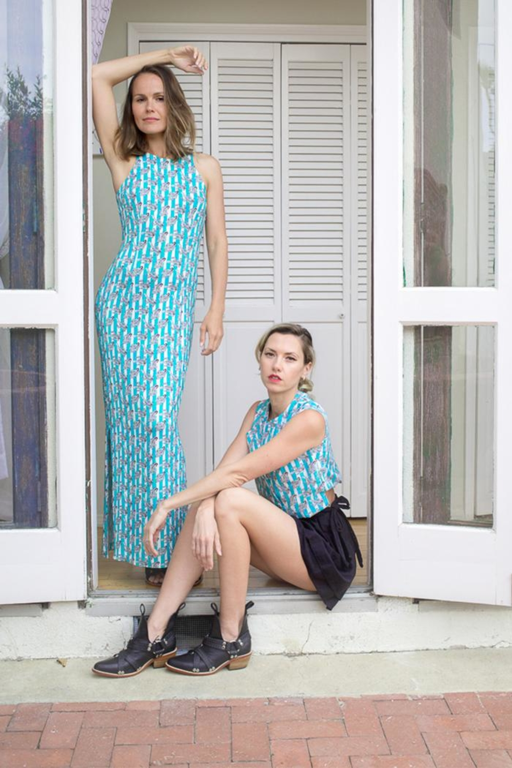 Risto Long Jersey Dress - Front Full Image