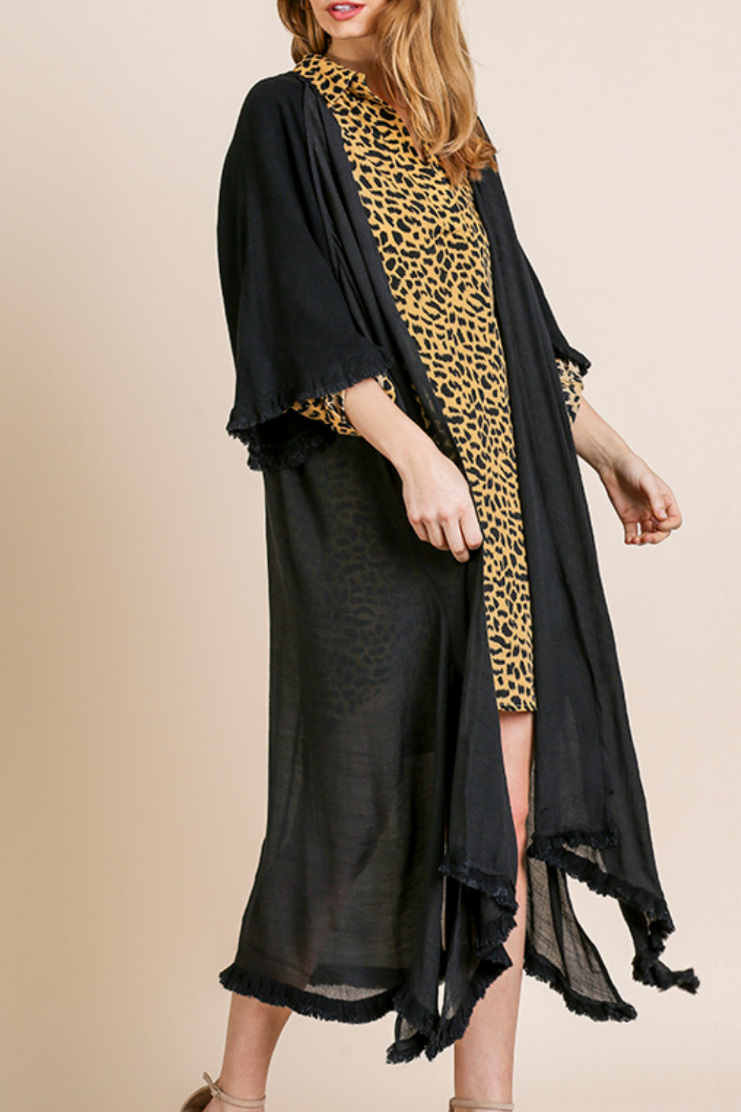 Umgee  Long Kimono with Side Slits - Main Image