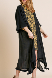 Umgee  Long Kimono with Side Slits - Front cropped
