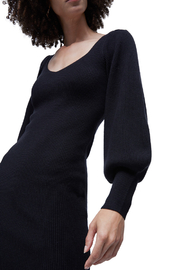 French Connection LONG KNIT BALLOON SLEEVE DRESS - Front full body