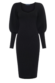 French Connection LONG KNIT BALLOON SLEEVE DRESS - Back cropped