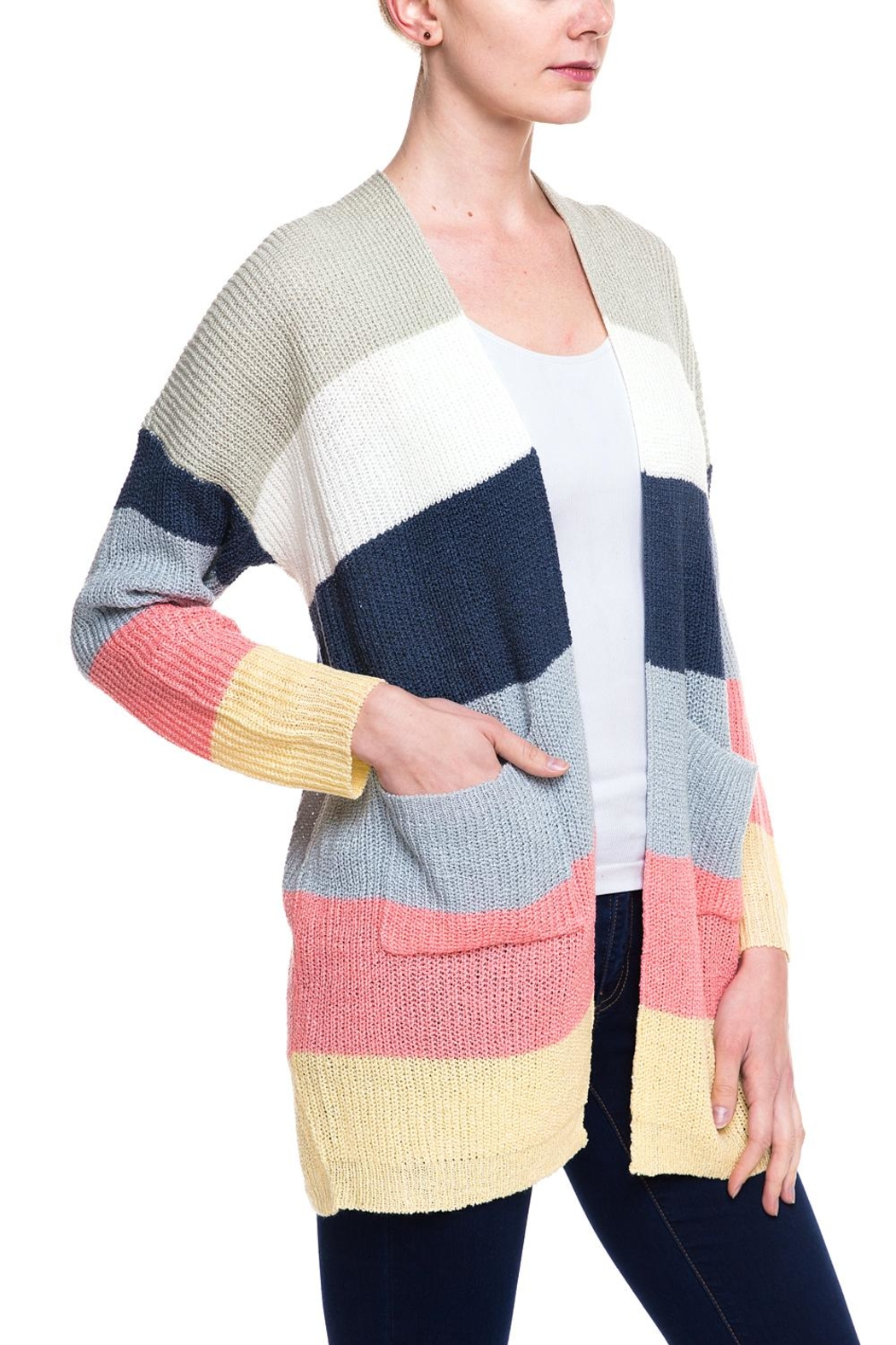 Kayla's Armoire Long Knit Cardigan - Front Full Image