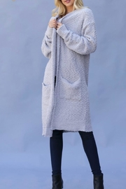 Wanna B Long Knitted Cardigan - Front cropped