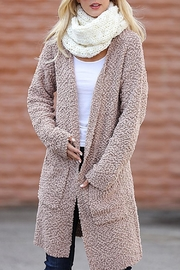 Wanna B Long Knitted Cardigan - Front full body