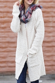 Wanna B Long Knitted Cardigan - Side cropped