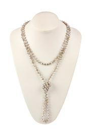 Riah Fashion Long-Knotted-Rondelle Beads Necklace - Product Mini Image