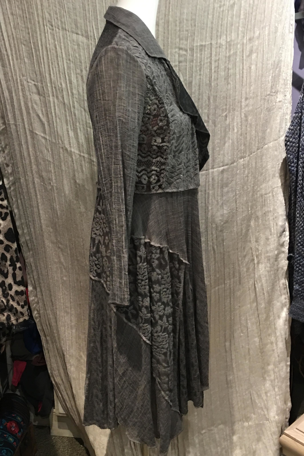 Adore Long Lacey Duster - Side Cropped Image