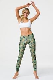 Onzie Long Legging Peacock Green - Back cropped