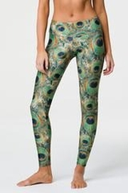 Onzie Long Legging Peacock Green - Product Mini Image