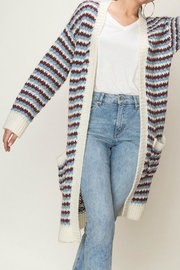 fashion on earth Long-Line Woven Cardigan - Product Mini Image