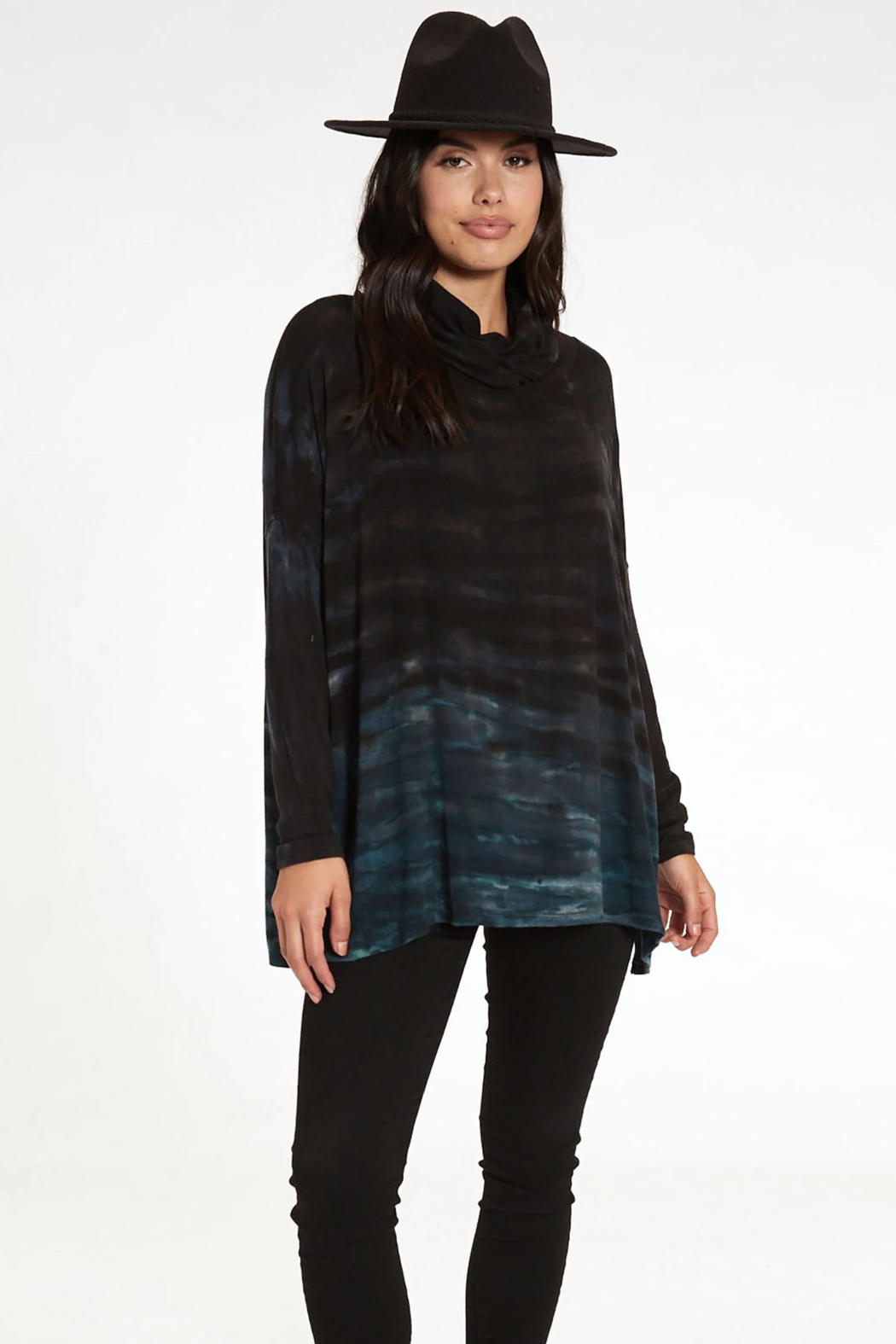 RIVER AND SKY Long Nights Oversized Ombre Poncho Sweater - Front Full Image