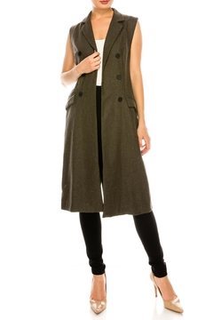 Shoptiques Product: Long Olive Vest