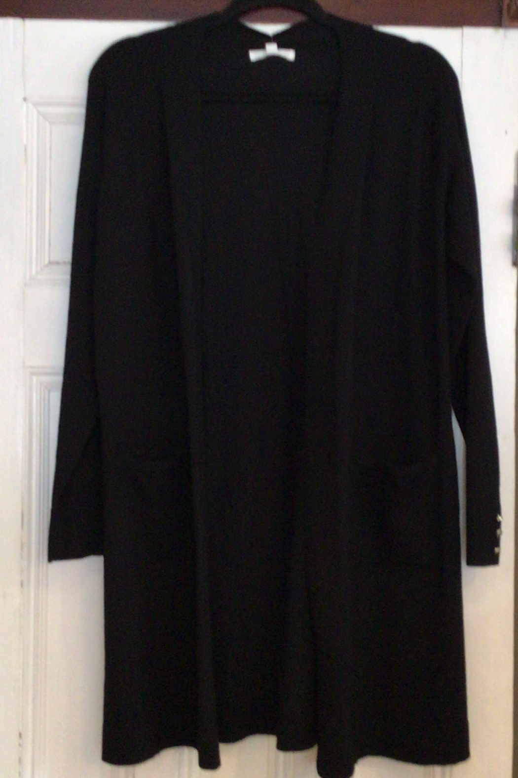 89th & Madison Long open cardigan sweater - Front Cropped Image