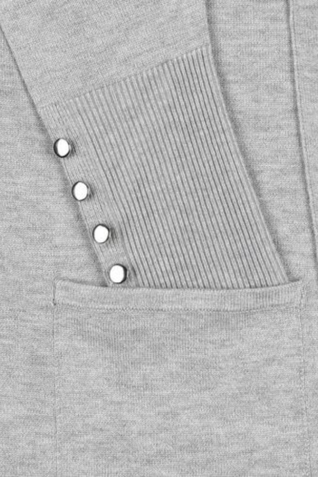 89th & Madison Long open cardigan sweater - Front Full Image
