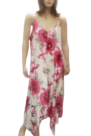 India Boutique LONG PINK FLORAL PRINT DRESS - Product Mini Image