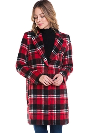 Sans Souci Long Plaid Jacket - Front full body