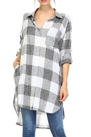 hers and mine Long Plaid Shirt - Product Mini Image