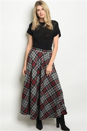 Shop The Trends  Long Plaid Skirt - Product Mini Image
