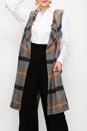 R+D Hipster Emporium  Long Plaid Vest - Product Mini Image