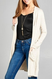 Active Basic Long Pocket Cardigan - Front cropped
