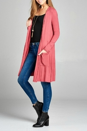Active Basic Long Pocket Cardigan - Product Mini Image