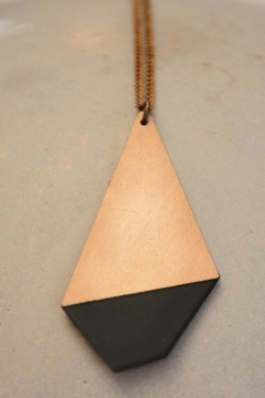 Ruby on Tuesday Long Polygon Necklace - Alternate List Image