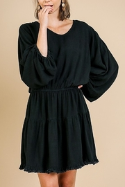 Umgee Long Puff Sleeve Ruffle Dress - Product Mini Image