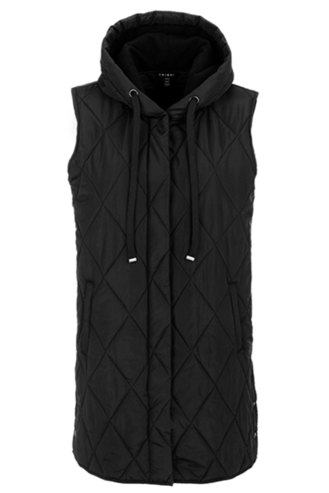 Tribal  Long Puffer Vest - Front Full Image