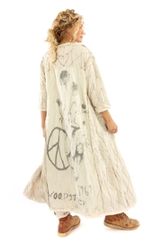 Magnolia Pearl Long QuiltedCoat - Back cropped