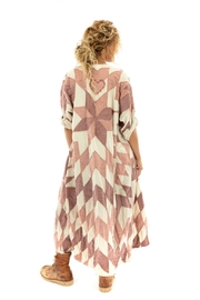 Magnolia Pearl Long QuiltedCoat - Front full body