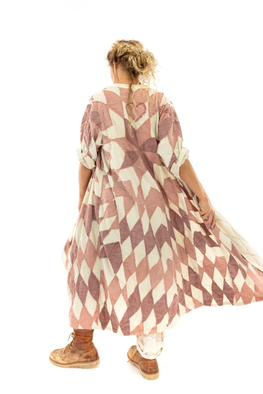 Magnolia Pearl Long QuiltedCoat - Side Cropped Image