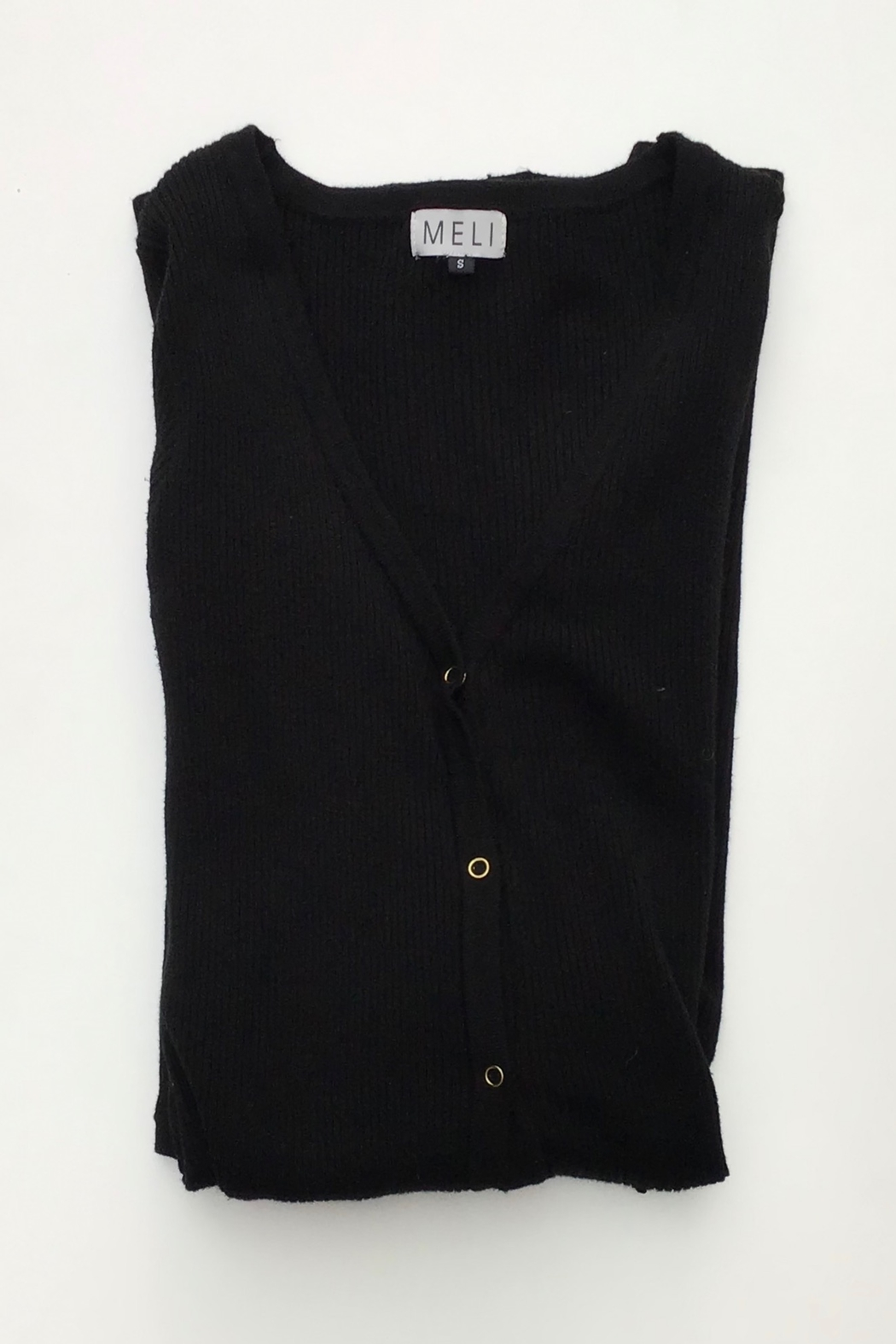 Meli by FAME LONG RIBBED CARDIGAN - Front Cropped Image