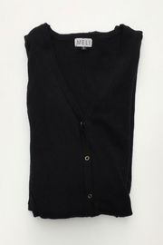 Meli by FAME LONG RIBBED CARDIGAN - Front cropped