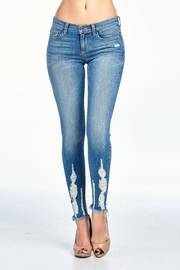 Sneak Peak Long Ripped Denim - Front cropped