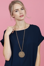 Riah Fashion Long Rondelle Necklace - Back cropped