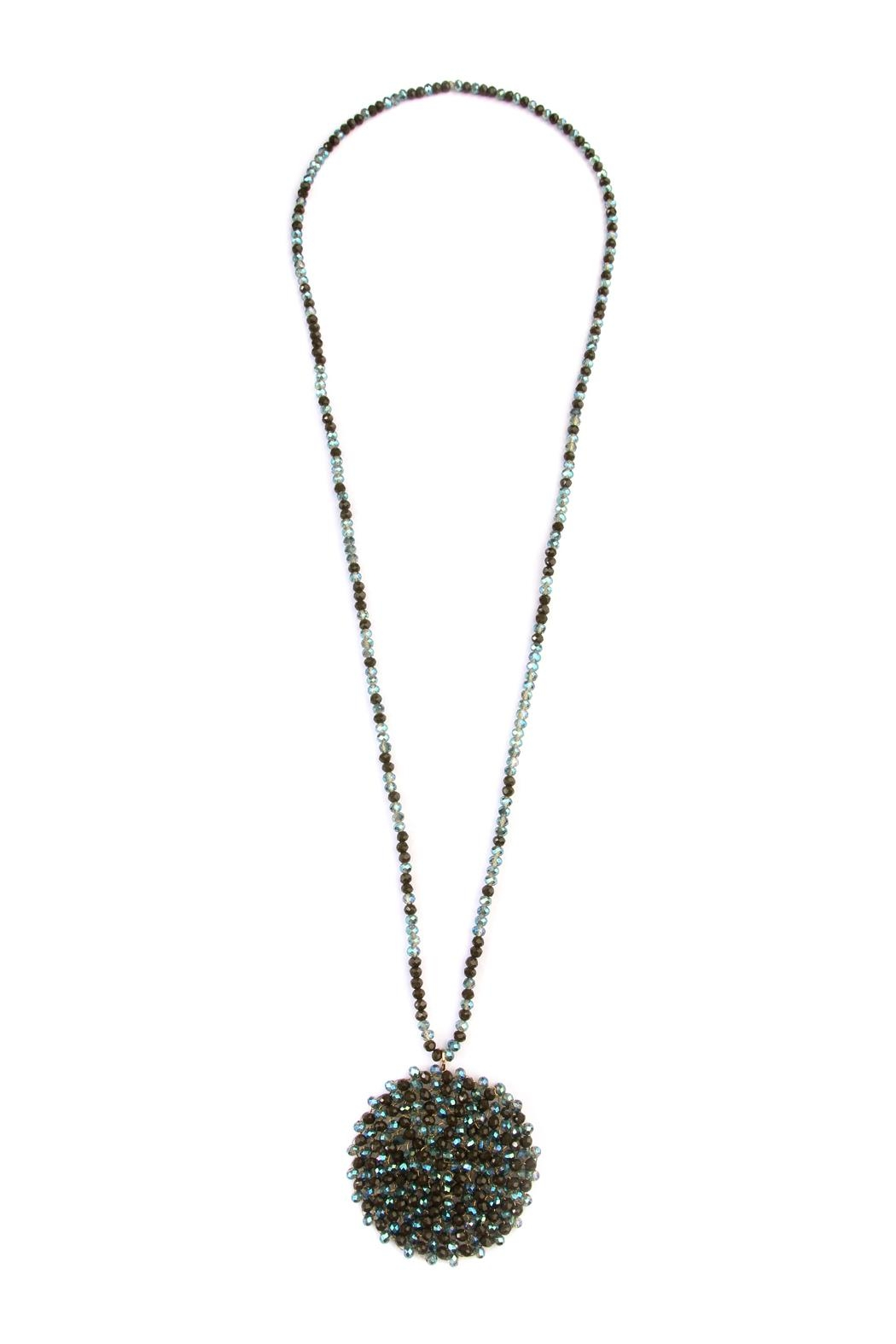 Riah Fashion Long Rondelle Necklace - Front Cropped Image