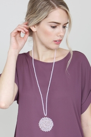 Riah Fashion Long Rondelle Necklace - Side cropped