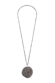 Riah Fashion Long Rondelle Necklace - Front cropped