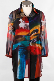 Dilemma Fashions Long Shirt - Multi Color Macke - Product Mini Image