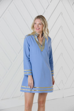 Sail to Sable LONG SLEEVE A-LINE CLASSIC TUNIC DRESS - Alternate List Image