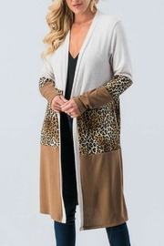 Trend:notes Long-Sleeve Animal-Print Cardigan - Product Mini Image
