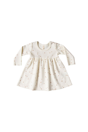 Quincy Mae Long Sleeve Baby Dress - Ivory Star - Product Mini Image