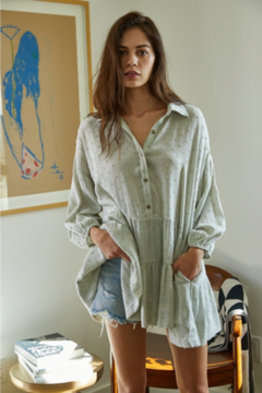 By Together  Long Sleeve Babydoll Shirt Dress - Product List Image