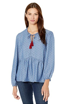 Tribal  Long Sleeve Blouse with Tassels - Product List Image