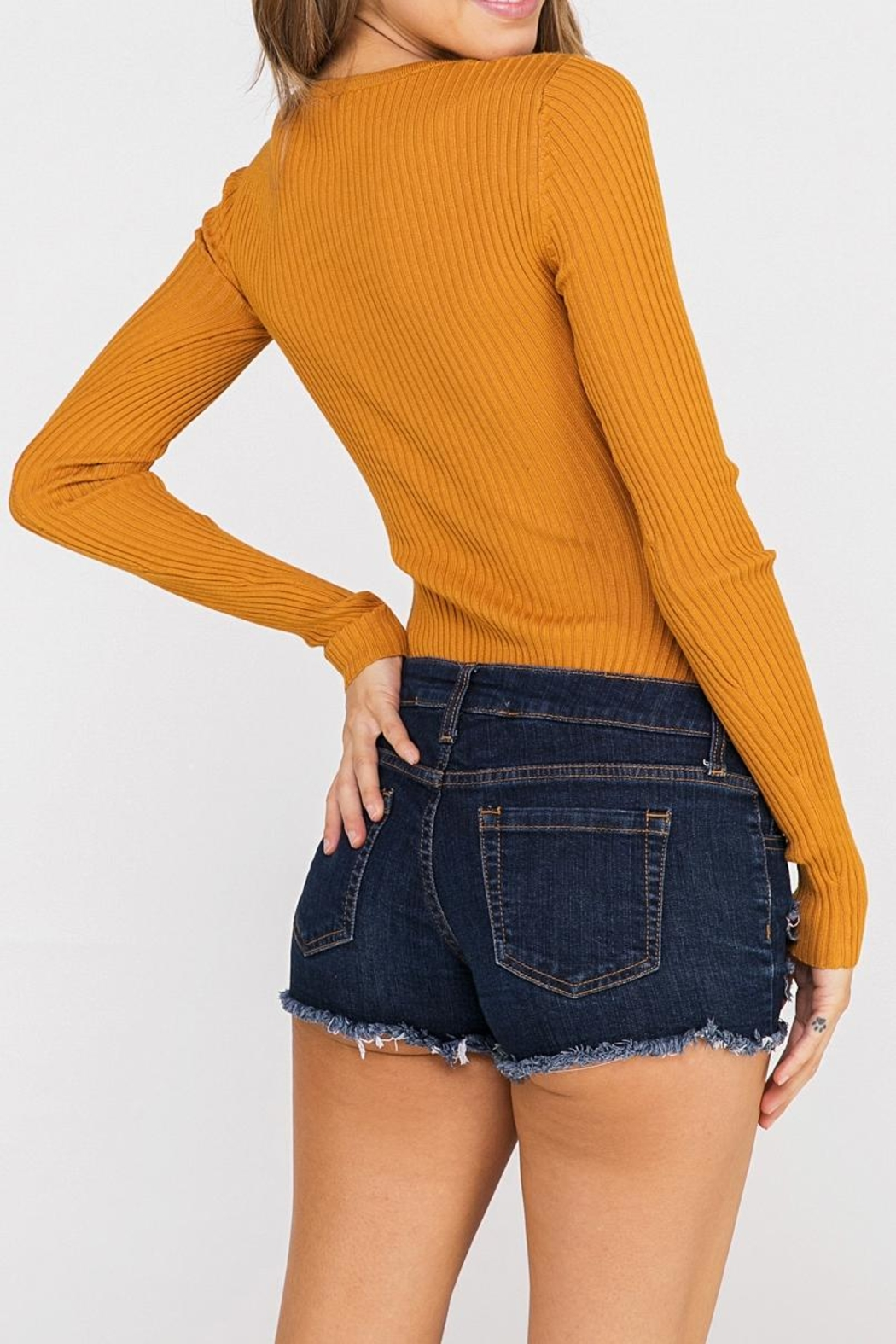 Hello Miss Long Sleeve Bodysuit - Front Full Image