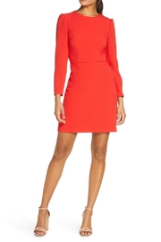 Eliza J Long Sleeve Bow Back Party Dress - Product Mini Image
