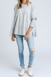 Doe & Rae Long-Sleeve Boxy Top - Front cropped
