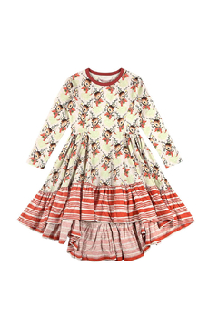 Paper Wings Long Sleeve Bustle Swing Dress - Product List Image