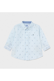 Mayoral Long Sleeve Button Down Puppy Shirt - Product Mini Image