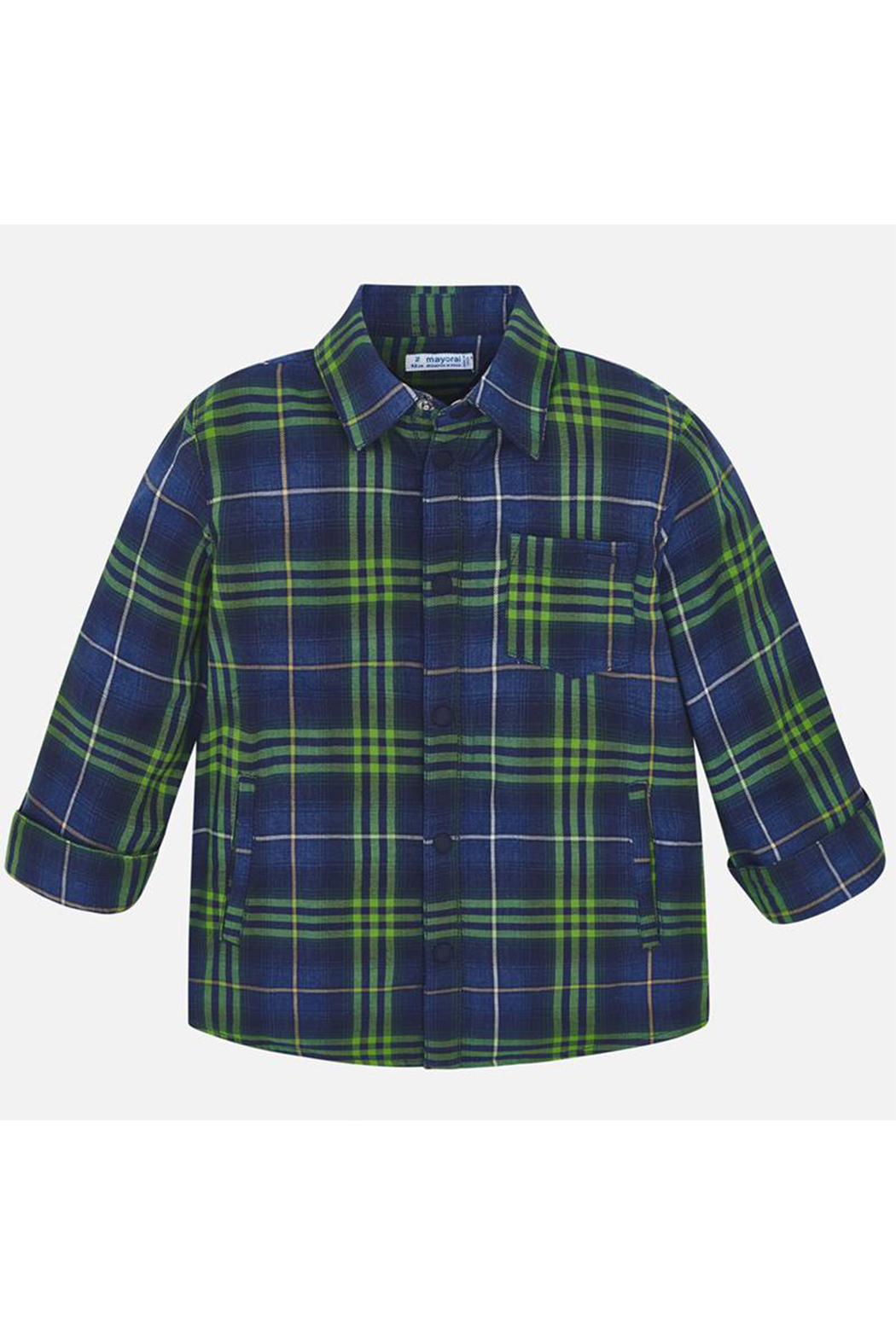 Mayoral Long Sleeve Button Up Plaid - Main Image